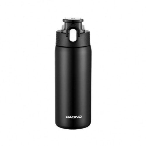 Термопляшка CASNO 450 мл KXN-6065 Чорна фото 1
