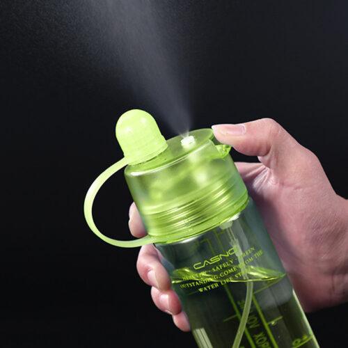 Пляшка для води CASNO 420 мл KXN-1151 Зелена з соломинкою фото 3