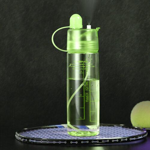 Пляшка для води CASNO 420 мл KXN-1151 Зелена з соломинкою фото 2