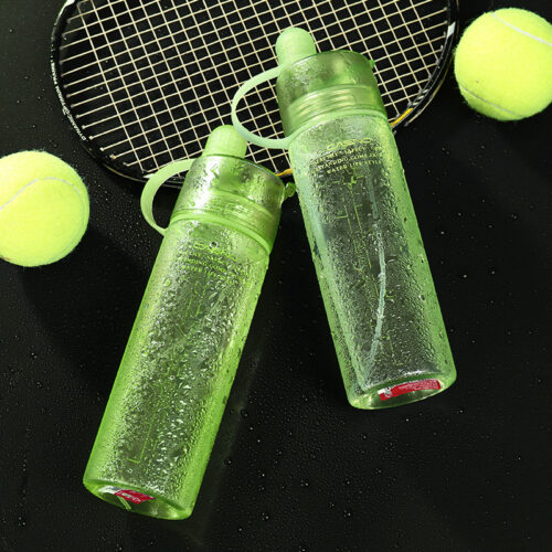 Пляшка для води CASNO 420 мл KXN-1151 Зелена з соломинкою фото 4