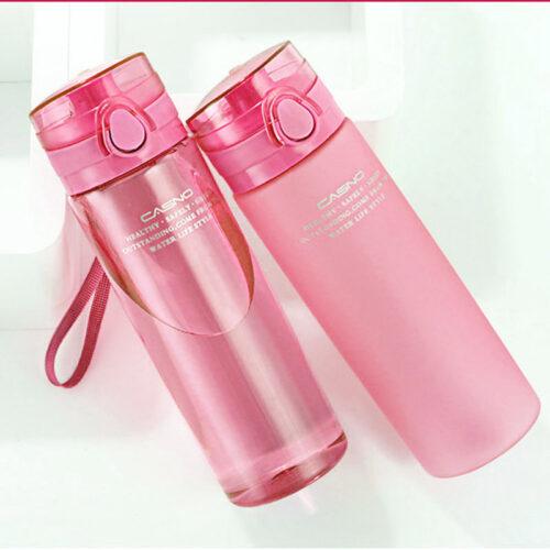 Пляшка для води CASNO 650 мл KXN-1157 Рожева фото 3