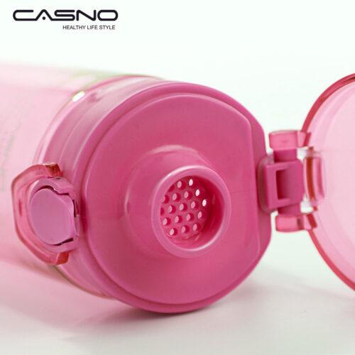 Пляшка для води CASNO 650 мл KXN-1157 Рожева фото 6