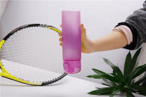 Пляшка для води CASNO 650 мл KXN-1157 Фіолетова фото 5
