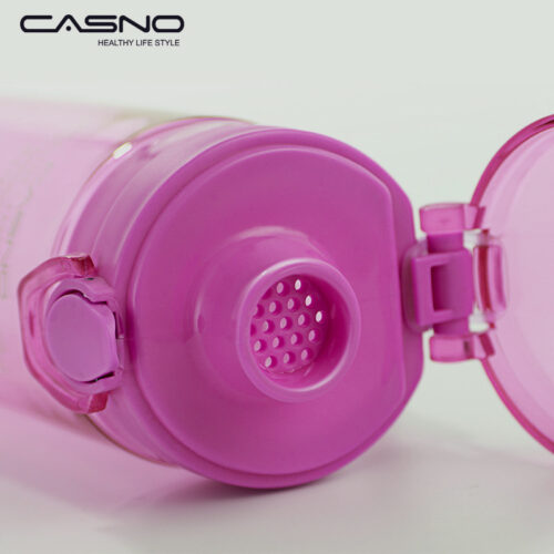 Пляшка для води CASNO 650 мл KXN-1157 Фіолетова фото 3