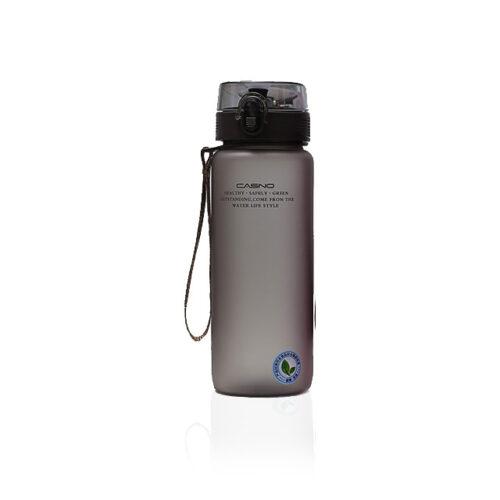 Пляшка для води CASNO 850 мл KXN-1183 Коричнева  + металевий вінчик фото 1