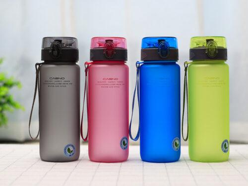 Пляшка для води CASNO 850 мл KXN-1183 Коричнева  + металевий вінчик фото 7