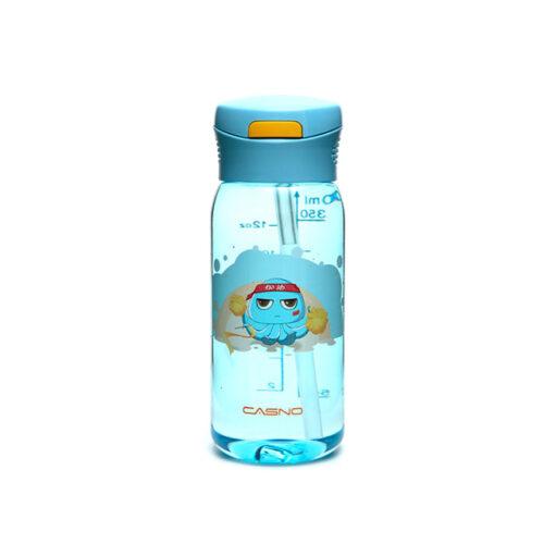 Пляшка для води CASNO 400 мл KXN-1195 Синя (восьминіг) з соломинкою фото 2