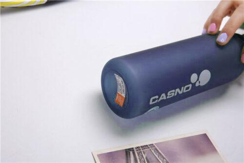 Пляшка для води CASNO 600 мл KXN-1196 Синя з соломинкою фото 4