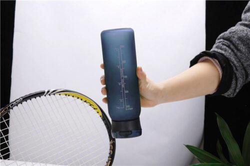 Пляшка для води CASNO 600 мл KXN-1196 Синя з соломинкою фото 6