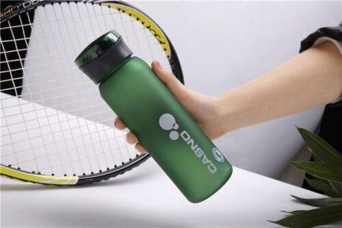 Пляшка для води CASNO 600 мл KXN-1196 Зелена з соломинкою фото 3