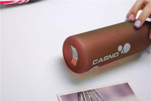 Пляшка для води CASNO 600 мл KXN-1196 Червона з соломинкою фото 5