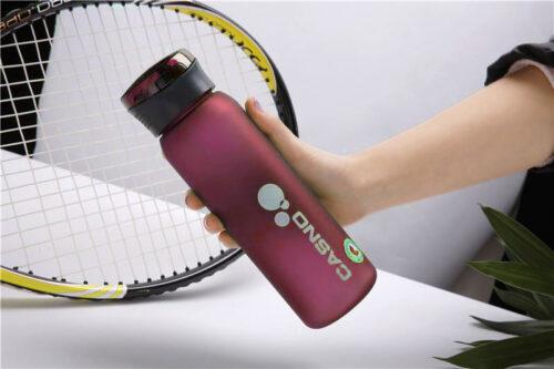 Пляшка для води CASNO 600 мл KXN-1196 Червона з соломинкою фото 4