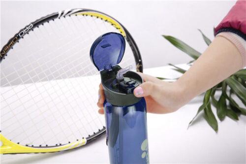 Пляшка для води CASNO 600 мл KXN-1211 Синя з соломинкою фото 4