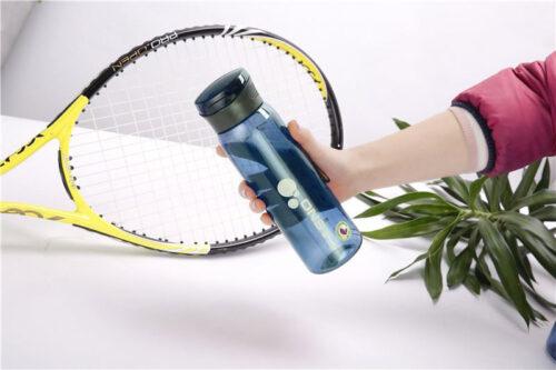 Пляшка для води CASNO 600 мл KXN-1211 Синя з соломинкою фото 5