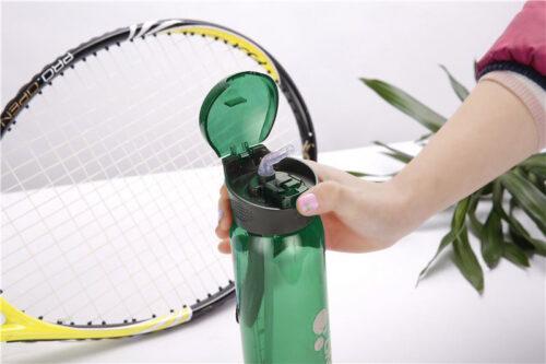 Пляшка для води CASNO 600 мл KXN-1211 Зелена з соломинкою фото 6