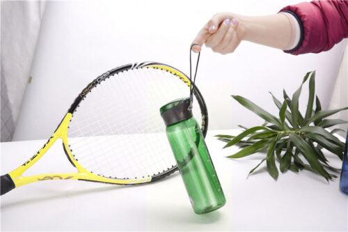 Пляшка для води CASNO 600 мл KXN-1211 Зелена з соломинкою фото 4
