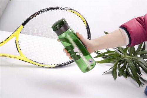 Пляшка для води CASNO 600 мл KXN-1211 Зелена з соломинкою фото 7
