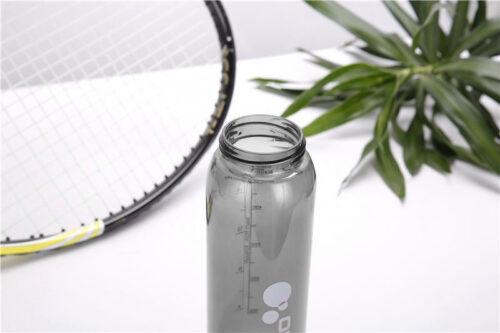Пляшка для води CASNO 600 мл KXN-1211 Чорна з соломинкою фото 5