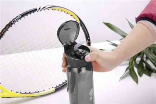 Пляшка для води CASNO 600 мл KXN-1211 Чорна з соломинкою фото 4