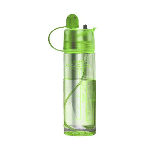 Пляшка для води CASNO 420 мл KXN-1151 Зелена з соломинкою фото 1