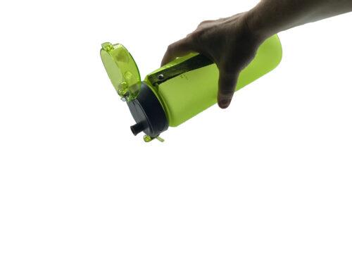 Пляшка для води CASNO 850 мл KXN-1183 Зелена + металевий вінчик фото 4