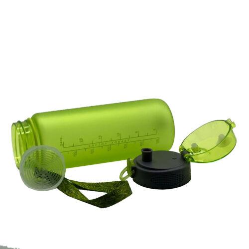 Пляшка для води CASNO 850 мл KXN-1183 Зелена + металевий вінчик фото 5