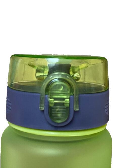 Пляшка для води CASNO 850 мл KXN-1183 Зелена + металевий вінчик фото 3
