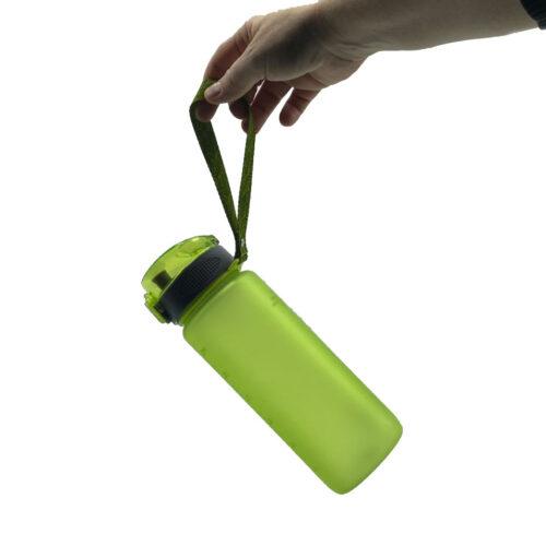 Пляшка для води CASNO 850 мл KXN-1183 Зелена + металевий вінчик фото 7