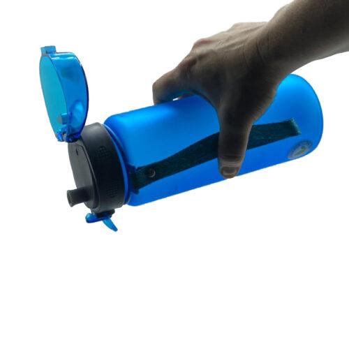 Пляшка для води CASNO 850 мл KXN-1183 Синя + металевий вінчик фото 5