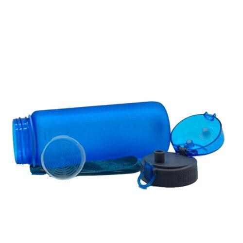 Пляшка для води CASNO 850 мл KXN-1183 Синя + металевий вінчик фото 6