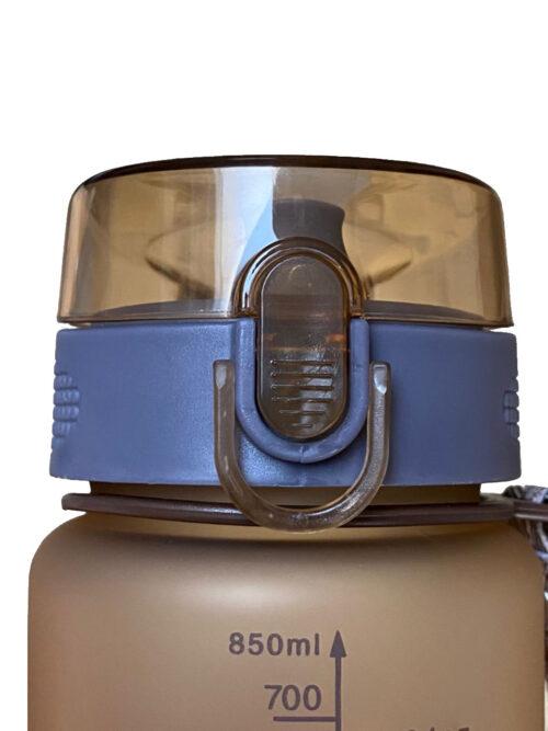 Пляшка для води CASNO 850 мл KXN-1183 Коричнева  + металевий вінчик фото 5