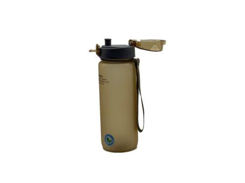 Пляшка для води CASNO 850 мл KXN-1183 Коричнева  + металевий вінчик фото 3