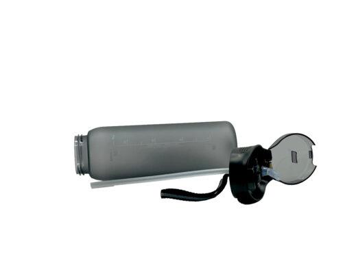 Пляшка для води CASNO 600 мл KXN-1196 Сіра з соломинкою фото 6