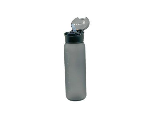 Пляшка для води CASNO 600 мл KXN-1196 Сіра з соломинкою фото 7