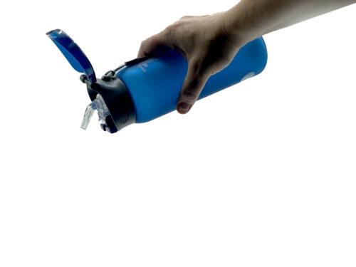 Пляшка для води CASNO 600 мл KXN-1196 Синя з соломинкою фото 2