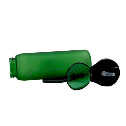 Пляшка для води CASNO 600 мл KXN-1196 Зелена з соломинкою фото 5