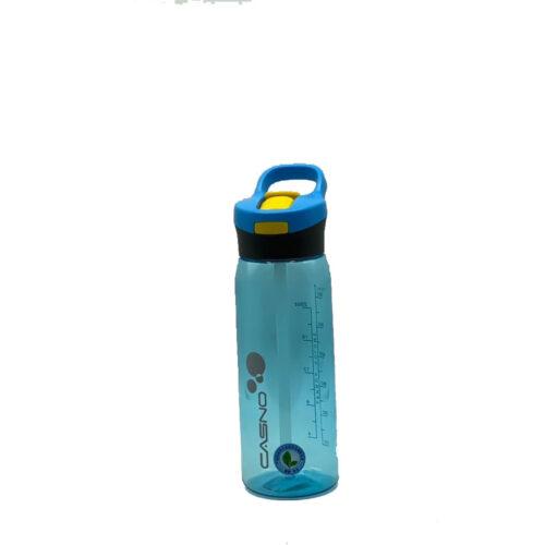 Пляшка для води CASNO 750 мл KXN-1207 Блакитна з соломинкою фото 5