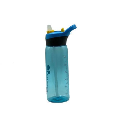 Пляшка для води CASNO 750 мл KXN-1207 Блакитна з соломинкою фото 3