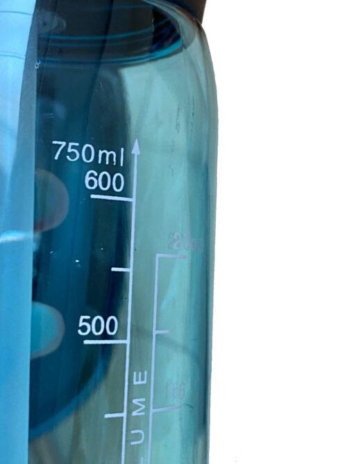 Пляшка для води CASNO 750 мл KXN-1207 Блакитна з соломинкою фото 7