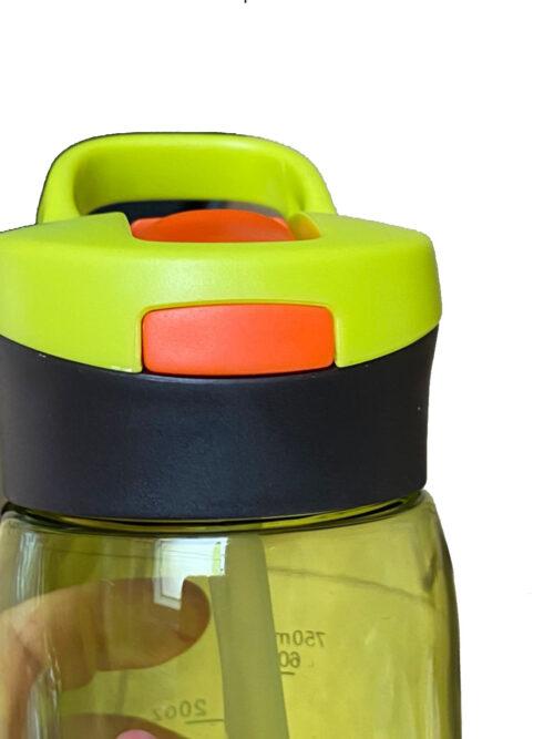 Пляшка для води CASNO 750 мл KXN-1207 Зелена з соломинкою фото 6