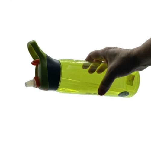 Пляшка для води CASNO 750 мл KXN-1207 Зелена з соломинкою фото 3