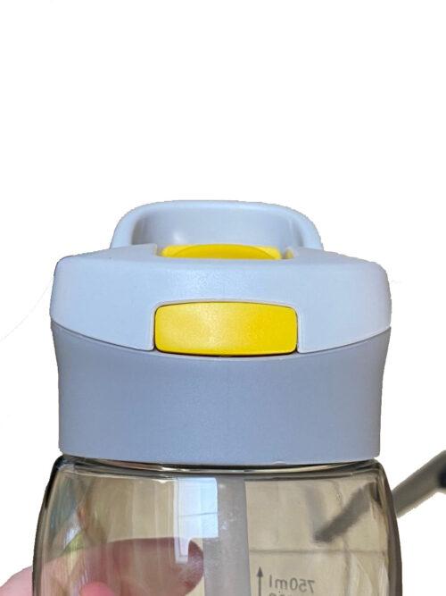 Пляшка для води CASNO 750 мл KXN-1207 Сіра з соломинкою фото 4