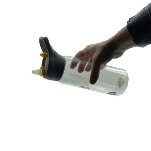 Пляшка для води CASNO 750 мл KXN-1207 Сіра з соломинкою фото 3