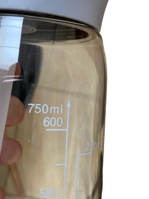 Пляшка для води CASNO 750 мл KXN-1207 Сіра з соломинкою фото 6