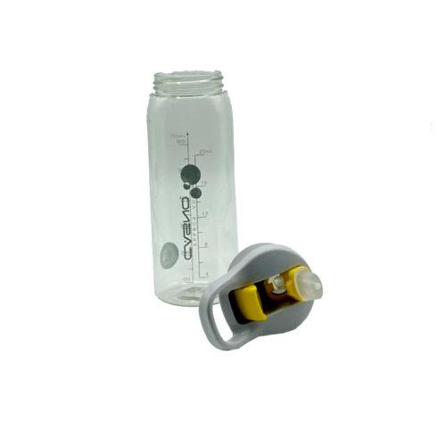 Пляшка для води CASNO 750 мл KXN-1207 Сіра з соломинкою фото 7