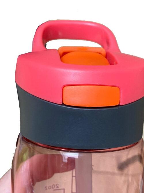 Пляшка для води CASNO 750 мл KXN-1207 Червона з соломинкою фото 6