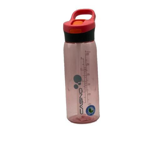Пляшка для води CASNO 750 мл KXN-1207 Червона з соломинкою фото 7