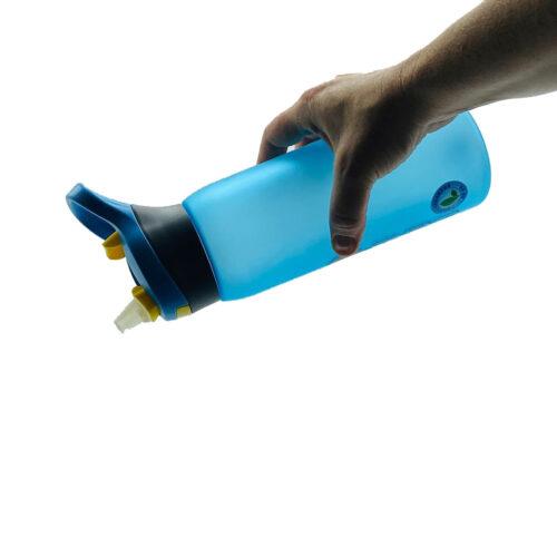 Пляшка для води CASNO 750 мл KXN-1210 Блакитна з соломинкою фото 3