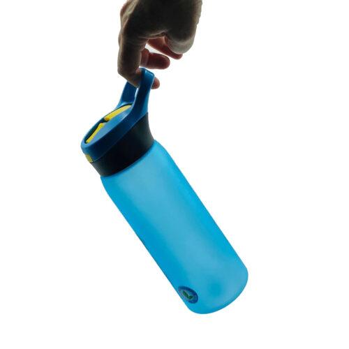Пляшка для води CASNO 750 мл KXN-1210 Блакитна з соломинкою фото 4