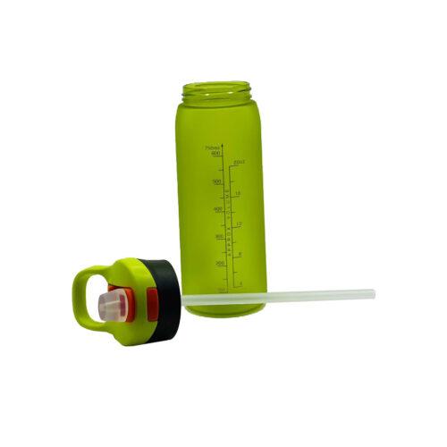 Пляшка для води CASNO 750 мл KXN-1210 Зелена з соломинкою фото 3
